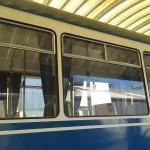Op het bedrijventerrein waar ik werk staat een prachtige tram. De spiegeling in de ramen geeft een mooie gelaagdheid.